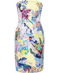 Mary Katrantzou Olympia Printed Strapless Dress - Lyst