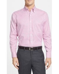 Peter Millar 'Nanoluxe' Regular Fit Wrinkle Resistant Tattersall Twill Sport Shirt - Lyst
