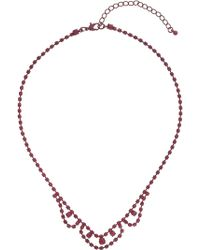 Topshop Purple Metal Necklace Purple - Lyst