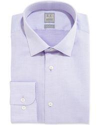 Ike Behar - Textured Solid Dress Shirt - Lyst