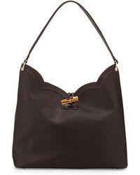 Eric Javits Tia Leather Hobo Bag - Lyst