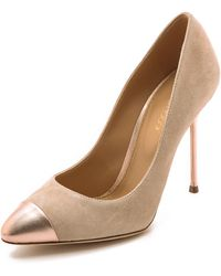 Sergio Rossi Lady Jane Pumps - Nude - Lyst