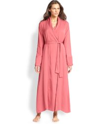 Donna Karan New York Silk Crepe Long Robe - Lyst