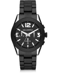 Karl Lagerfeld Kurator 41.5 Mm Men'S Chronograph Watch - Lyst