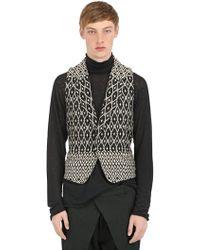 Haider Ackermann Geometric Silk Cotton Blend Vest - Lyst