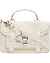 Proenza Schouler White Luxe Leather Tiny Ps1 Satchel - Lyst