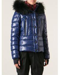 Moncler Grenoble - Red Underlayer Hooded Coat - Lyst