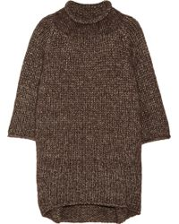 Victor Alfaro Oversized Metallic Knitted Sweater - Lyst