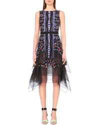 Peter Pilotto Flame Embroidered Silk-Chiffon Dress - For Women - Lyst