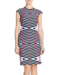 Maia - 'pique' Knit Sheath Dress - Lyst