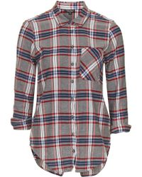 Topshop   Tartan Checked Shirt   Lyst