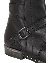 Alexandre Plokhov - Washed Leather Biker Boots - Lyst
