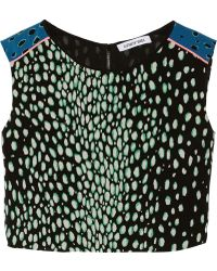 Elizabeth And James Reed Printed Silk Top - Lyst