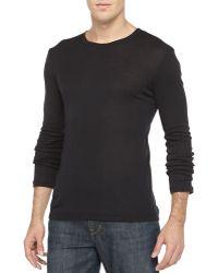 Hanro Black Silkcashmere Undershirt - Lyst