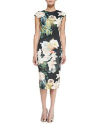 Ted Baker Opulent Bloom Floralprint Midi Dress - Lyst