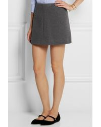 Miu Miu Texturedwool Mini Skirt - Lyst