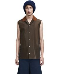 Acne Studios Olaf Sleeveless Chocolate Brown - Lyst