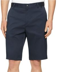 Calvin Klein Core Flat-Front Stretch Shorts - Lyst