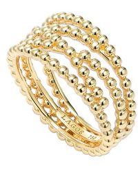 Lagos Caviar Multi-Row Ring gold - Lyst