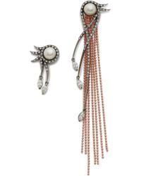 Katie Rowland - L'eclipse Drop Earrings - Rose Gold/pearl/lavender - Lyst