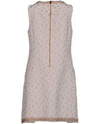 See By Chloé Short Dress gray - Lyst