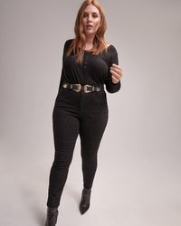 Addition Elle - Skinny Leopard-print Jeans - L&l - Lyst