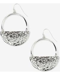 Addition Elle - Half Moon Pendant Earrings - Lyst