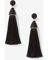 Addition Elle - Fabric Tassel Earrings - Lyst