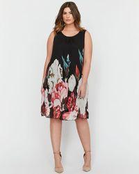 Addition Elle - Michel Studio Floral Print, Sleeveless Dress - Lyst
