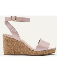 0e0b56c4cac4 Lyst - UGG Peep Toe Platform Espadrille Wedge Sandals Delmar in Natural