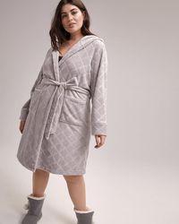 Addition Elle - Bathrobe With Belt And Hood - Ti Voglio - Lyst