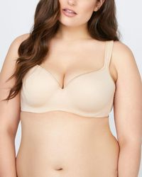 e9a7a1c842b Lyst - Addition Elle Striped Padded Wirefree Bra