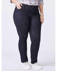 a5da6e3ea9ab67 Addition Elle Online Only - Tall Slightly Curvy Straight Leg Girlfriend Jean  - D/c Jeans in Blue - Lyst