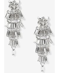 Addition Elle - Crystal Chandelier Earrings - Lyst