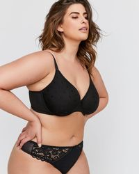 adb5fc725b22c Addition Elle - Smooth Operator Polka Dot Mesh Bra - Déesse Collection -  Lyst