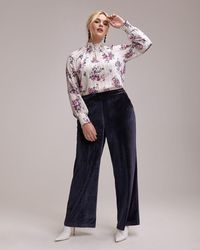 18a4027aabe60 Lyst - Addition Elle Michel Studio Wide-leg Cropped Pants With Tulip ...