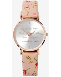 Addition Elle - Floral Band Watch - Lyst
