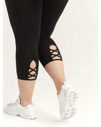 f888b151b4785 Addition Elle - Capri Legging With Criss-cross Detail - Lyst