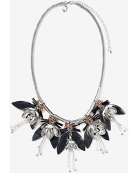 Addition Elle - Drooping Flower & Acrylic Necklace - Lyst