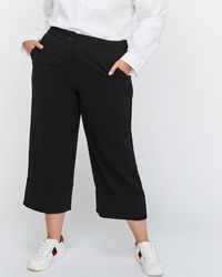 Addition Elle - Wide Leg Crop Pant With Fake Cuff - Michel Studio - Lyst