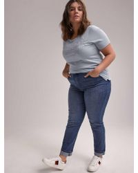 479cffd0a4d687 Addition Elle - Online Only - Tall Slightly Curvy Straight Leg Jean - D/c