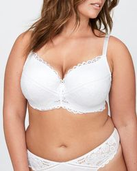 Addition Elle - Lace Contour Flirt Padded Underwire Bra - Déesse Collection - Lyst