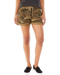 Alternative Apparel Lt French Terry Rolled Short - Lyst