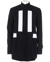Givenchy Poplin Cotton Shirt Black black - Lyst