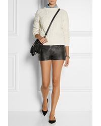 Current/Elliott Charlotte Gainsbourg The Short Leather Shorts - Lyst