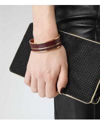 Reiss | Patty Leather Inlay Cuff | Lyst
