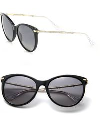 Gucci | Crystal Bamboo 56mm Cat's-eye Acetate & Metal Sunglasses | Lyst