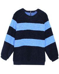 Tibi Panda Boucle Sweatshirt - Lyst