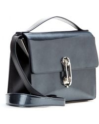 Balenciaga Maillon Mini Trapeze Patent Leather Shoulder Bag - Lyst
