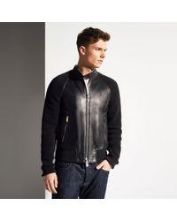 Bally Leather Blouson - Lyst